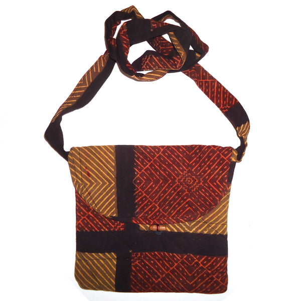 Quilted Cotton Bag - Russet