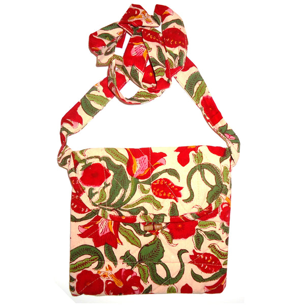 Quilted Cotton Bag - Floral