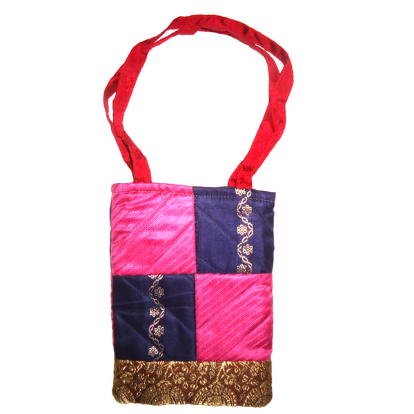Patchwork Bag - Navy/Pink