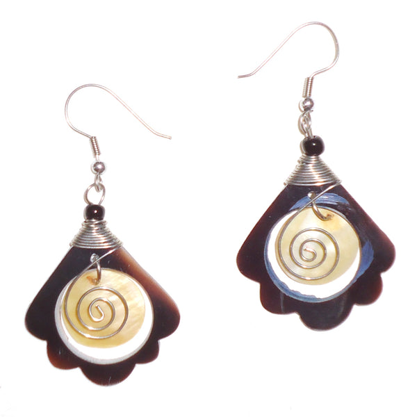 Shell Earrings with Stainless Steel
