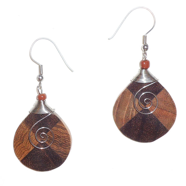 Ebony Earrings with Stainless Steel