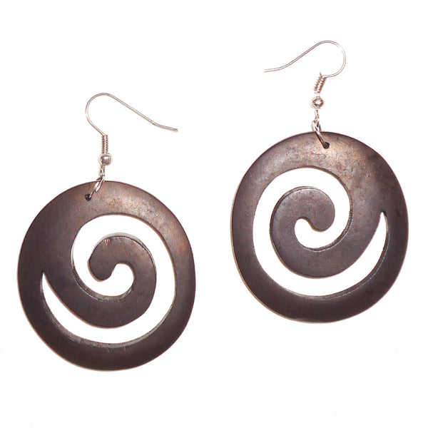 Ebony Earrings - Spiral