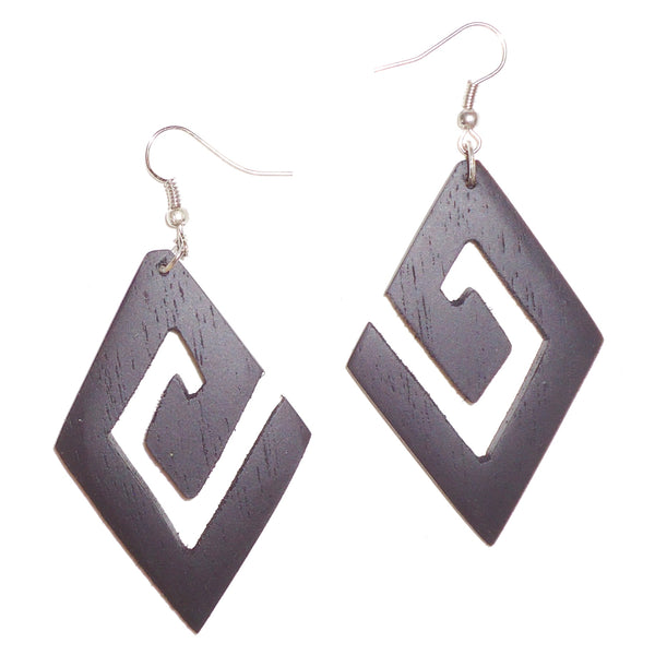 Ebony Earrings - Diamond