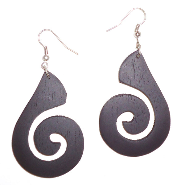 Ebony Earrings - Teardrop