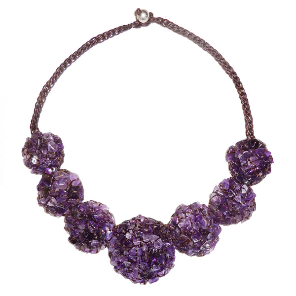 Amethyst Medallion Necklace