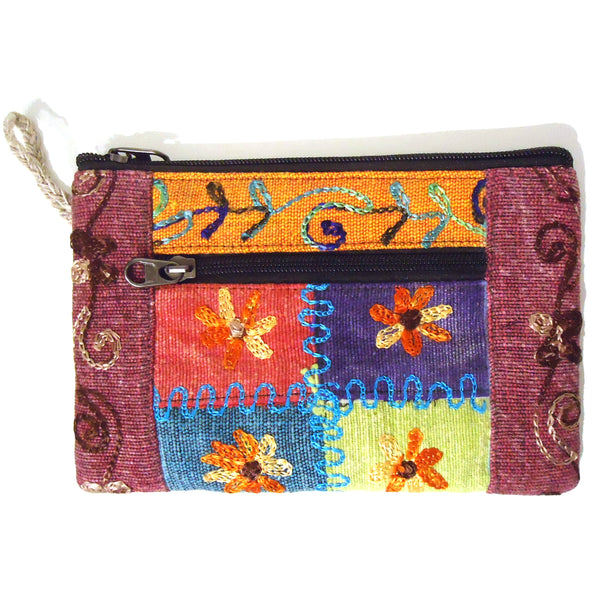 Embroidered Clutch Purse - Large
