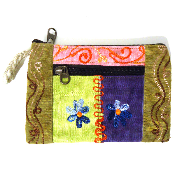 Embroidered Clutch Purse - Medium