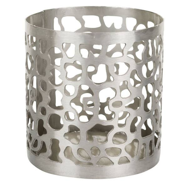 Patterned Iron Candle Holder