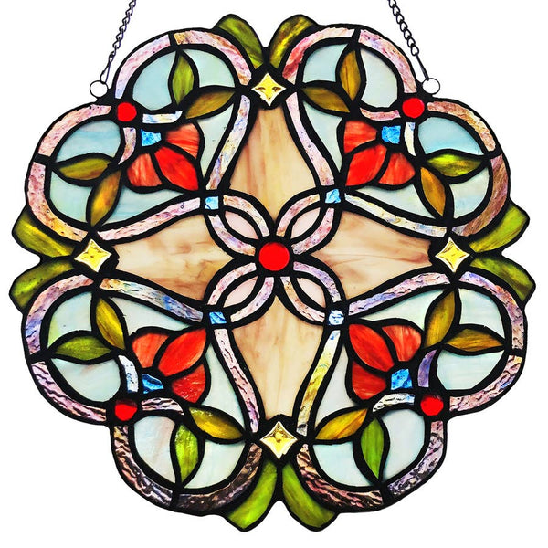 Stained Glass Floral Beauty Medallion