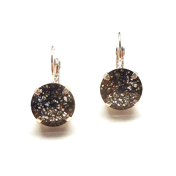 Black Patina Crystal Earrings