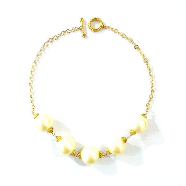 Gold & Pearl Necklace