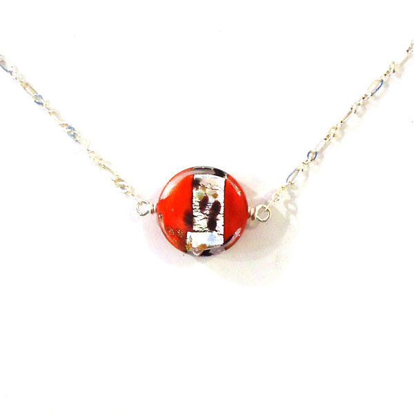 Leopard Print Murano Glass Necklace