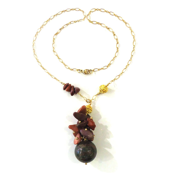 Zoisite & Mookaite Necklace