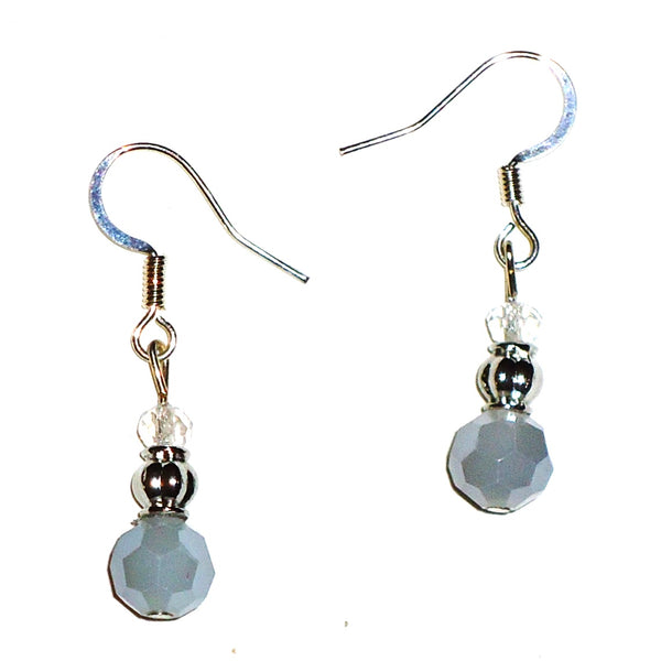 Gray Milk Glass Earrings