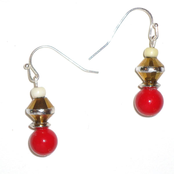 Red and Gold Earrings