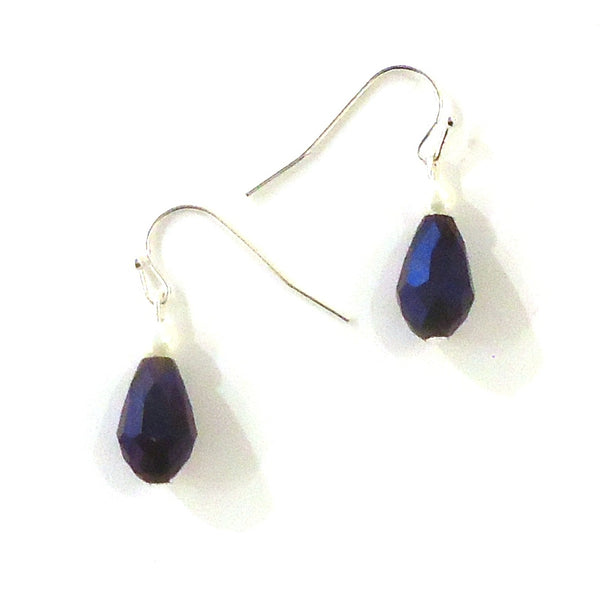 Indigo Crystal Earrings