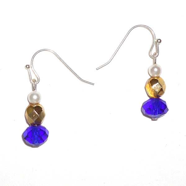 Cobalt & Gold Earrings