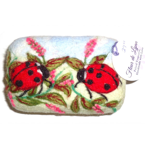 Felted Soap, Lady Bug