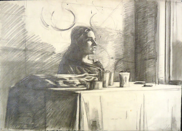 Sidney Goodman: Woman at a Table