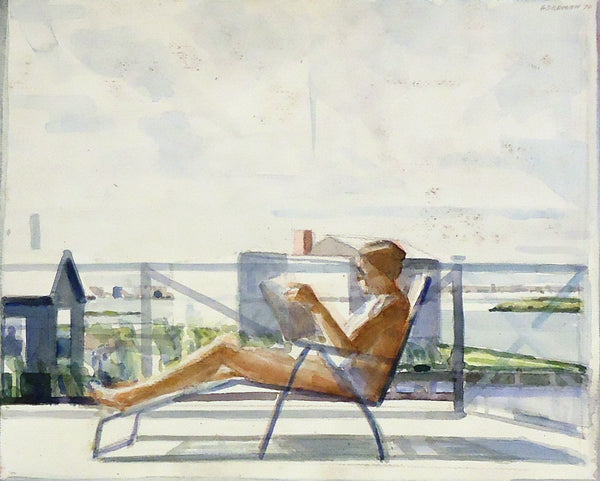Sidney Goodman: Woman in a Deck Chair