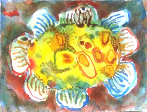 Patty Castner: Yellow Cell with Fin Receptors