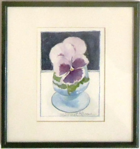 Millicent Krouse: Purple Pansy