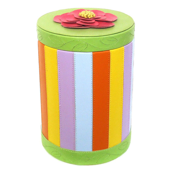 Striped Cylinder Box