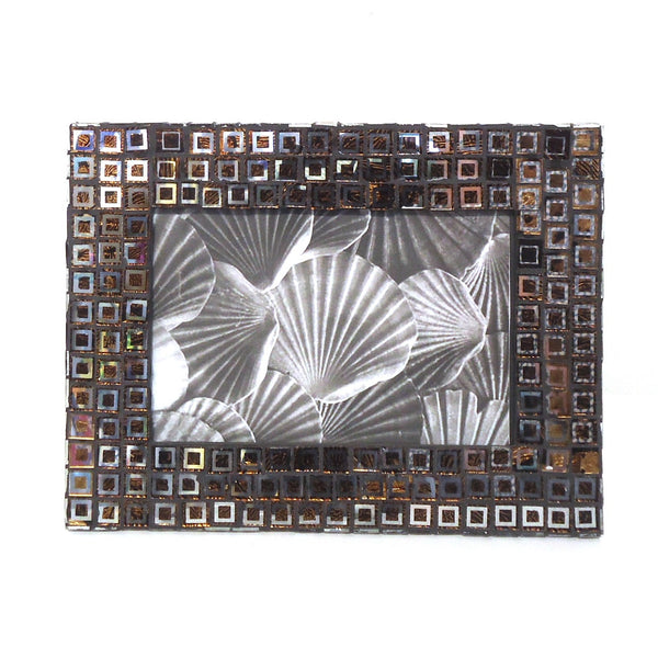 Mosaic Picture Frame, Brown