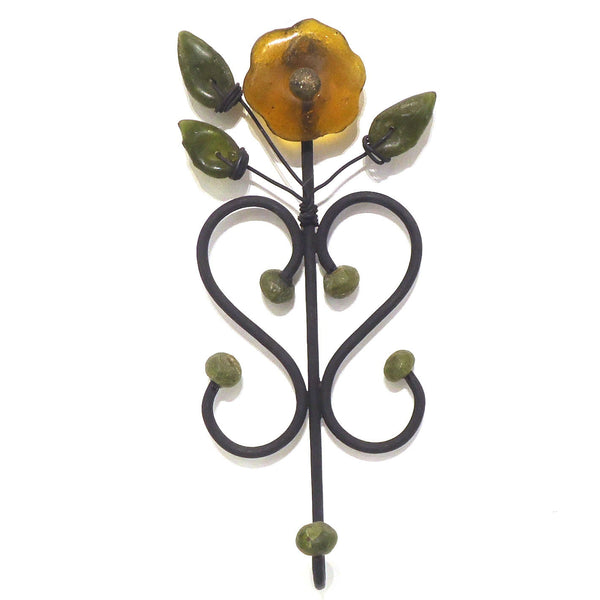 Glass Flower Wall Hook
