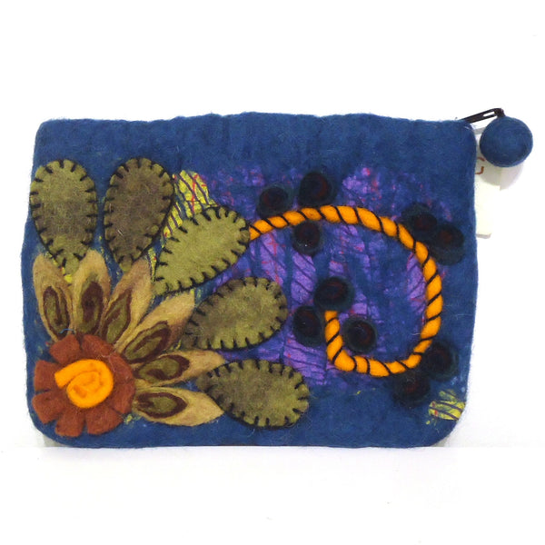 Flower Burst Purse, Blue