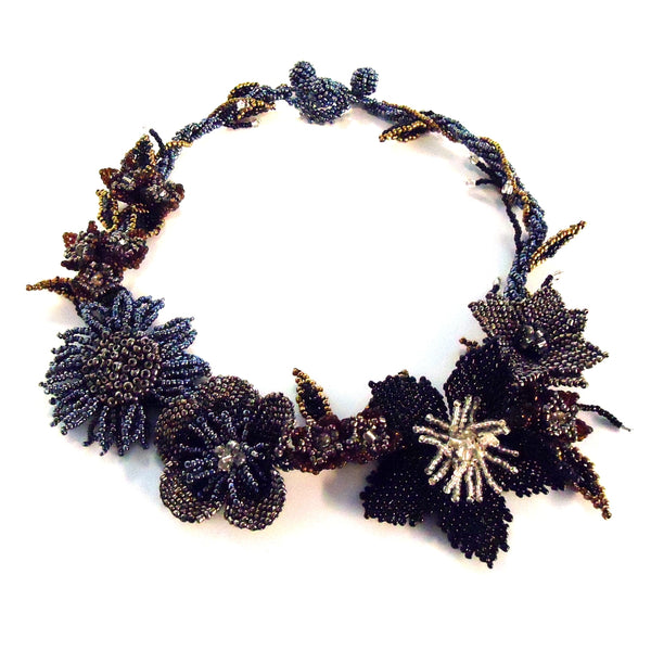 Beaded Blossom Necklace