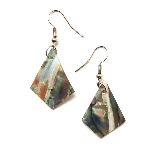 Abalone Spade Earrings