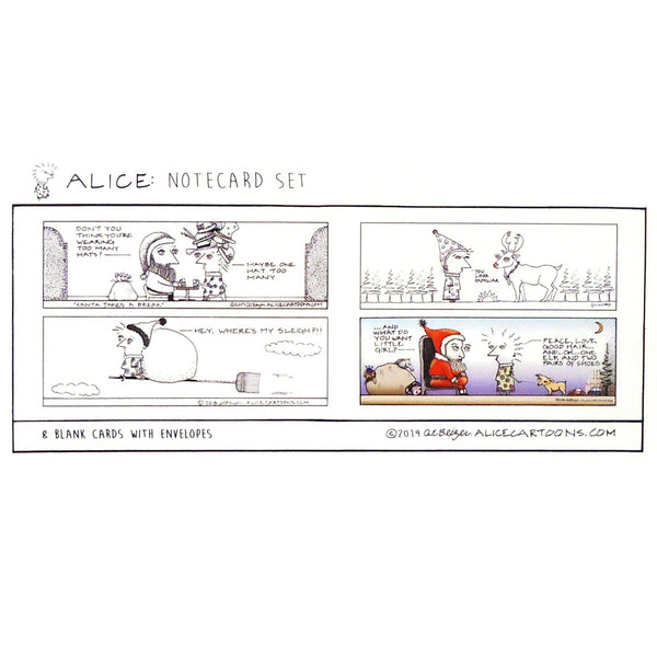 Alice Cartoons Holiday Card Set