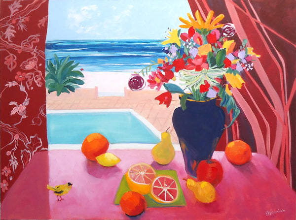 Ruth Formica: Still Life with Pool and a Finch