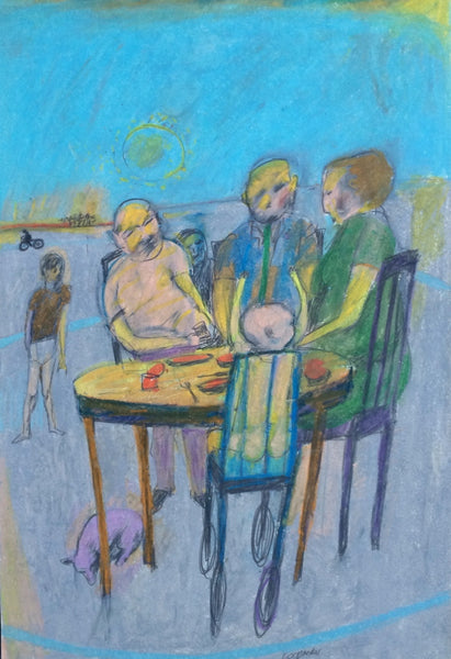 Sidney Goodman: Figures Seated at a Table