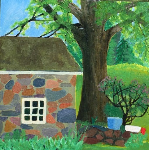 Mary Powers Holt: Smoke House and Black Walnut Tree