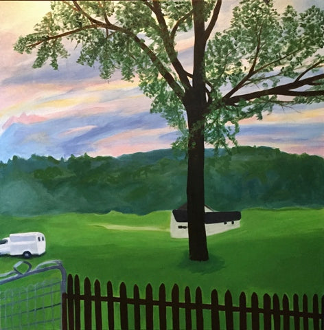 Mary Powers Holt: White Truck Evening