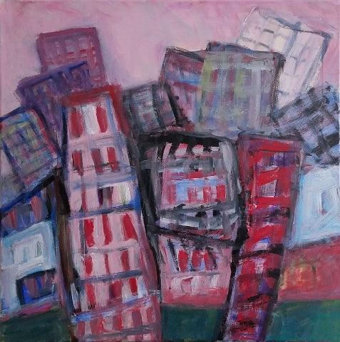 Alan Lankin: City / Red Buildings