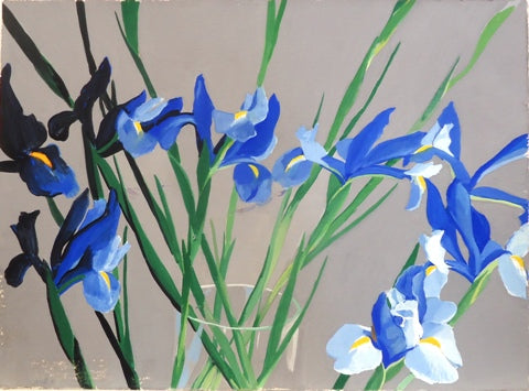 Gilbert Lewis: Untitled (Blue Irises)