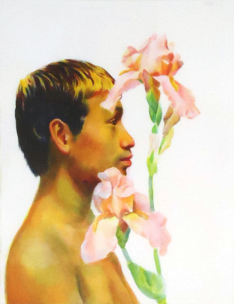 Gilbert Lewis: Man with Flowers