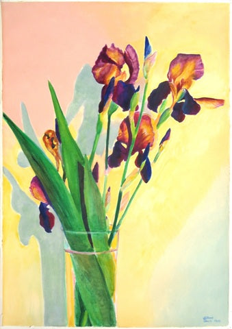 Gilbert Lewis: Untitled (Purple Iris)