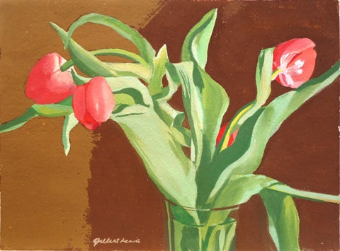 Gilbert Lewis: Untitled (Red Tulips)