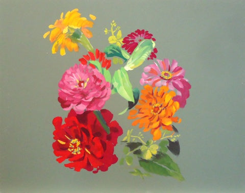 Gilbert Lewis: Untitled (Zinnias)