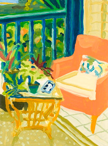 Liz Price: Orange Chair, Naples