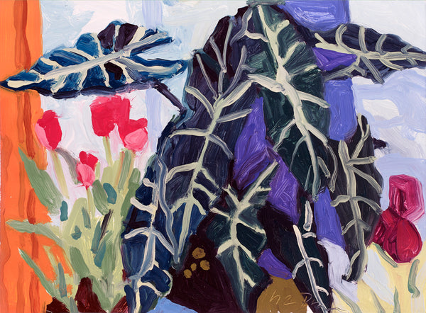 Liz Price: Tulips with Veined Plant