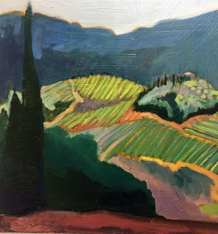 Monique Sarkessian: Orvieto Vineyard, Tuscany