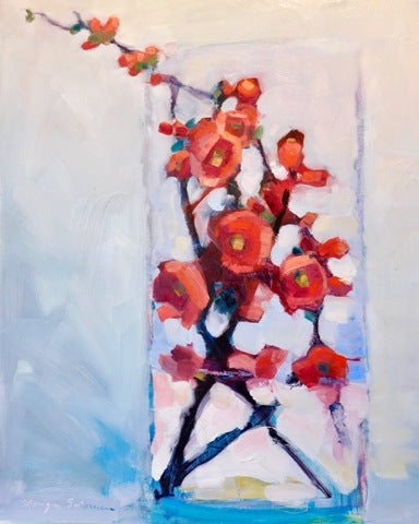 Monique Sarkessian: Together - Still Life with Red Quince Blooms 3