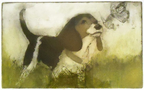 Dori Spector: Beagle and Butterfly