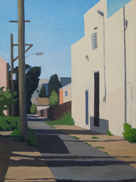 Oil painting of Hope St. in Philadelphia with morning light by Allison Syvertsen.