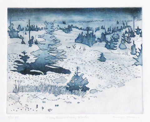 Margo Tassi: Trees, Beaver River, Winter